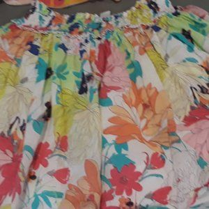 Old Navy floral print skirt with elastic waist